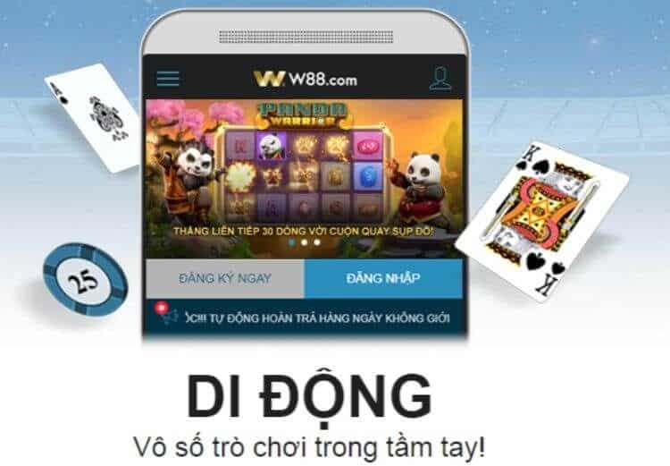 ứng dụng 5 trong 1 w88