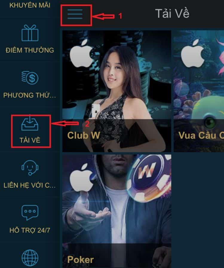 ứng dụng w88 ios
