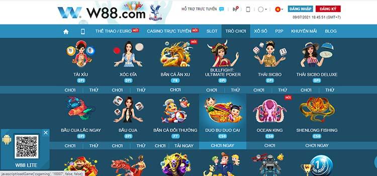 chơi Dou Bu Dou Cai tại w88